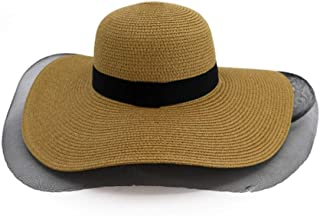 YbauShop Straw Sun Hats Sun Hat Summer Foldable Wide Brim Bucket Hat Ladies Floppy Beach Hat -Fishing Hat with-Outdoor Caps for Summer, Outdoor,Travel,Hiking (Color : Yellow)
