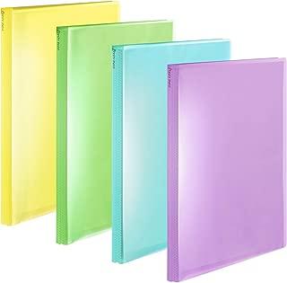 プラス ファイル クリアファイル A4縦 40ポケット Pasty petit フルーツスカッシュ 4色組