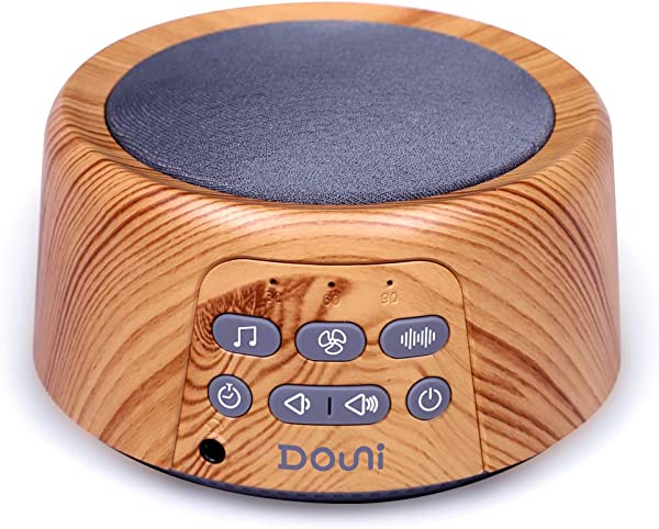 Douni Sleep Sound Machine White Noise Machine With 24 Non Looping Soothing Sounds For Sleeping Relaxation Timer Memory Function Sleep Therapy For Kid Adult Home Office Travel Wood Grain