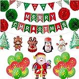 Jinlaili Globo de Navidad, Kit de Globos de Decoraciones navideñas, Globo de...