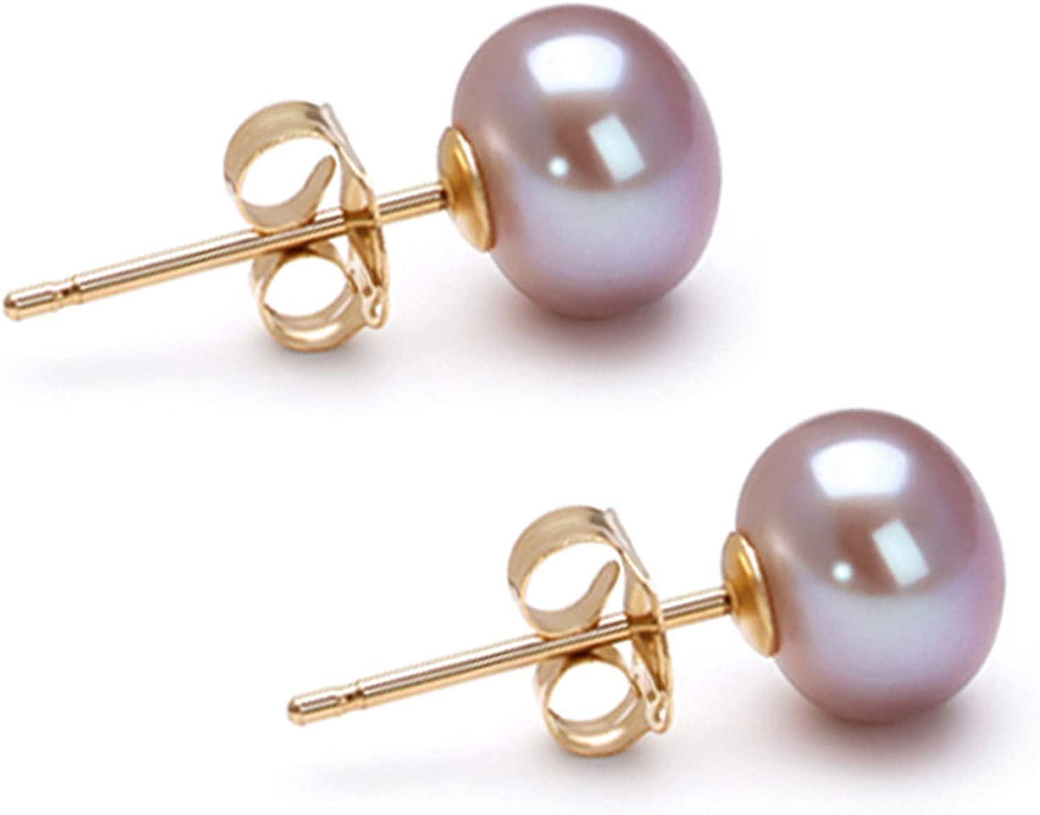 AA 6-10mm Lavender Freshwater Low price Cultured Pearl for Earrings Stud W Tucson Mall