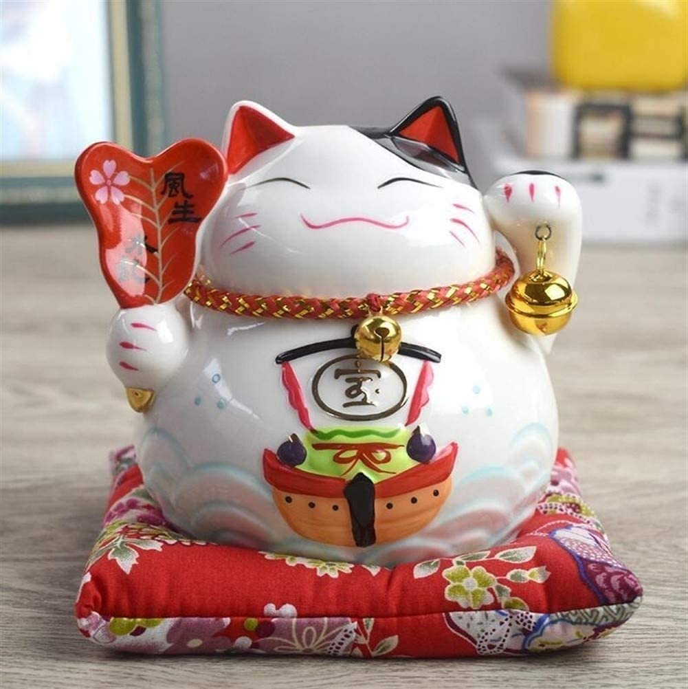 Zoe home Lucky Cheap Limited time for free shipping Cat Ceramic Coins Piggy Bank Tank L Porcelain