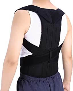 Back Posture Corrector for Men & Women Comfortable Back Double Y-shaped Cross, Built-in Steel Plate Brace Clavicle Support Device for Contracting Abdominal Muscles, Thoracic Kyphosis, Pain Relief(XXL)