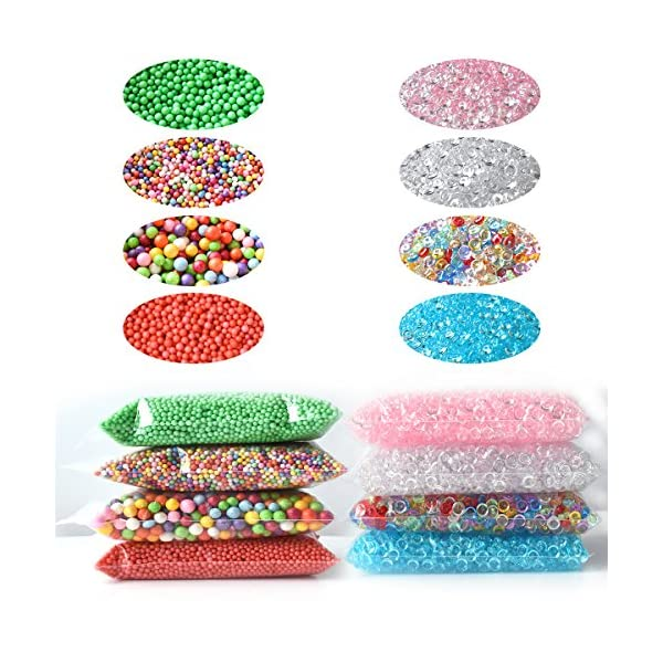 Hulluter 70PCS Slime Add Ins Slime Kit Floam Beads Fish Bowl Beads Mreaind Unicorn Slime Charms Glitter Jars Slime… 5