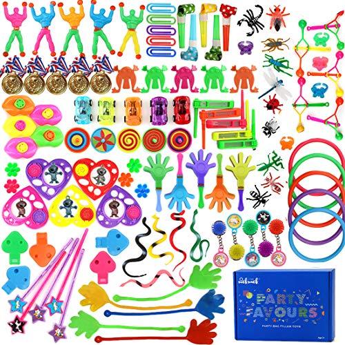nicknack Partytütenfüller für Kinder, 120 Stück Party-Preise, Glücksbringer-Preis für Kindergeburtstag,...