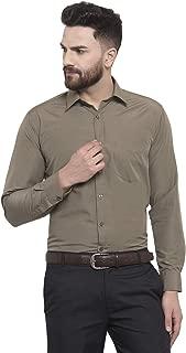 English Navy Men's Slim Fit Formal Shirt (12001Olive_Olive)
