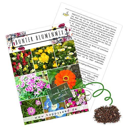 Blumensamen Balkonkasten Mischung - Farbenfrohe Blumen mit langer Blütezeit ideal für Ihren Balkon, Garten & Blumenwiese (Blumen Mix)