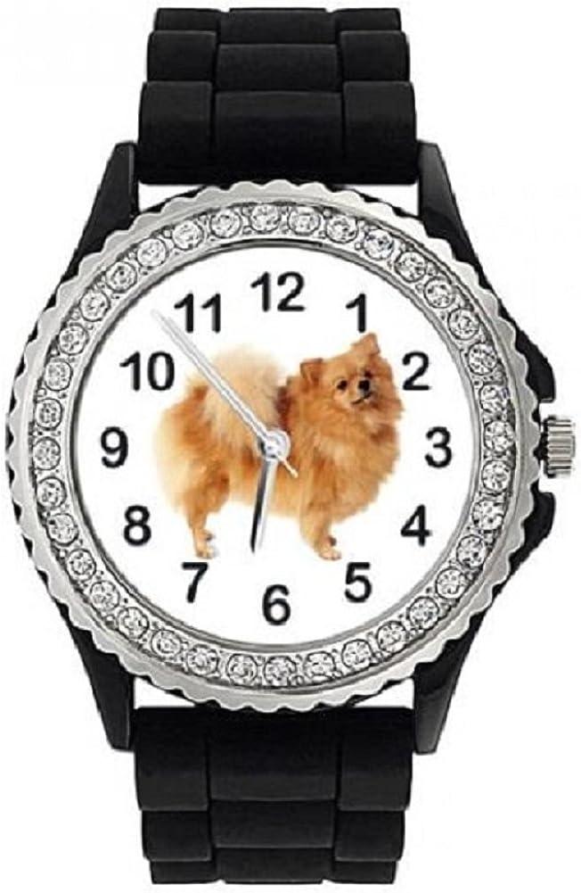 German Spitz 5 popular Klein Dog Crystal Store Silicone Wrist Jelly W Rhinestone