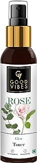 Good Vibes Rose Glow Toner 120 ml, Hydrating Light Weight Anti Ageing Nourishing Moisturizing Brightening Revitalising for...
