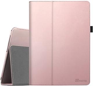 Fintie Folio Funda para Huawei MediaPad T3 10 - Carcasa de Cuero Sintético Soporte de Stylus para Huawei Mediapad T3 10 Tablet 9.6 Pulgadas IPS HD, Oro Rosa