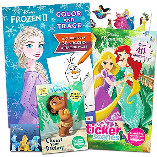 Disney Princess Coloring And Activity Book Super Set Bundle Includes 3 Deluxe Disney Princess Coloring Books With Over 175 Stickers Buy Online In Guatemala Disney Products In Guatemala
