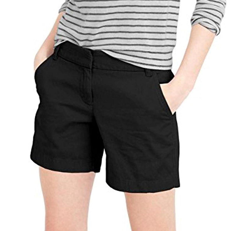 Inkach - Womens Shorts with Pockets, Casual Summer Short Pants Comfy Walking Shorts Zipper