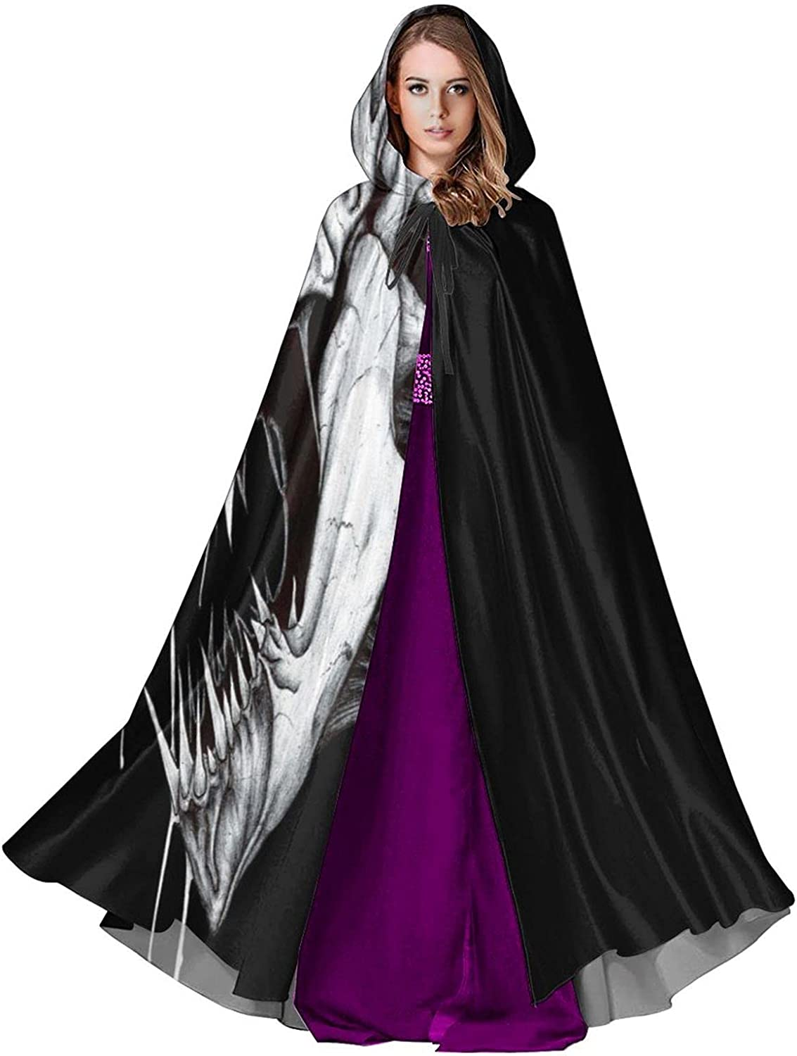 BUERYUZ Recommendation Cosplay Cloak with Hood Max 55% OFF Drooling Roaring Robe Skeletons