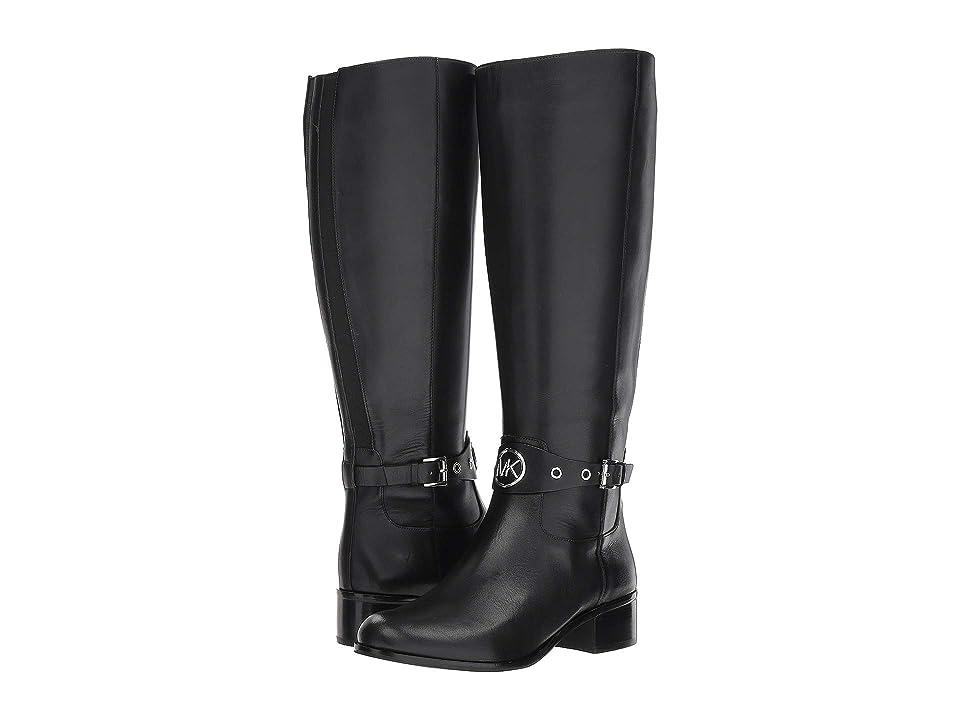 MICHAEL Michael Kors Heather Boot Wide Calf (Black Vachetta/Wide Shaft) Women