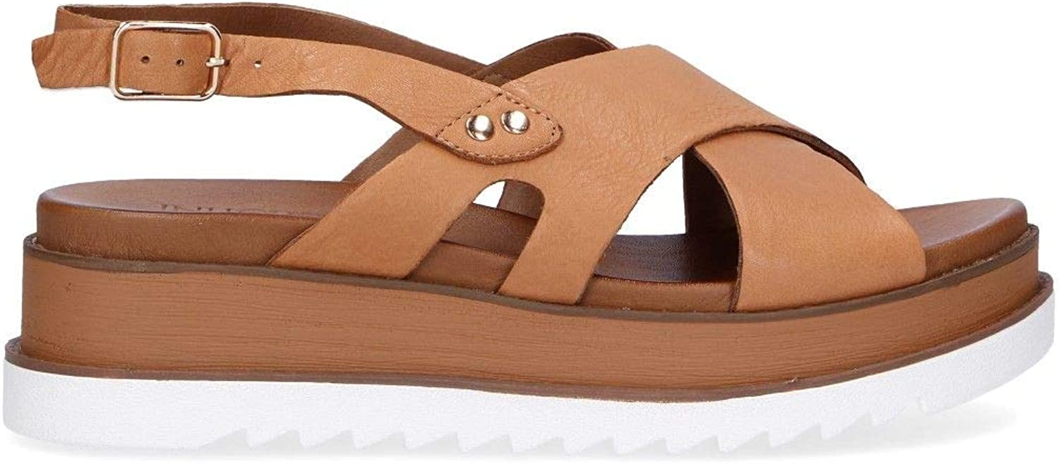 Inuovo Women's 8921BROWN Brown Leather Sandals