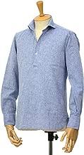 [ORIAN【オリアン】]スキッパーシャツ KH30F 02U323 22 コットンリネン ブルー