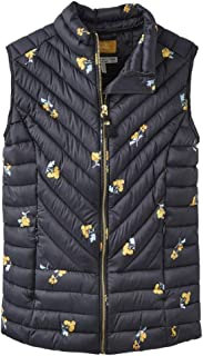 Joules Brindley Printed Chevron Quilted Gilet, Floral,