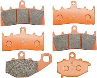 Lefossi Front Rear Carbon Fiber Brake Pads Brakes for Kawasaki ZX 6R ZX6R ZX 600 98-01 ZX-9R Ninja ZX 900 (1996-2001) ZX9R ZX6R ZX636 2002 FA188F FA192R