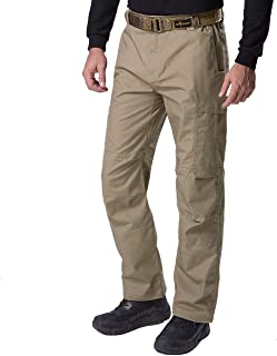 FREE SOLDIER Men`s Water Resistant Pants Relaxed Fit Tactical Combat Army Cargo Work Pants with Multi Pocket