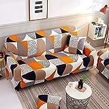 Funda de sofá elástica elástica con Estampado Floral, Toalla de sofá de algodón, Fundas de sofá Antideslizantes para Sala de Estar A1, 3 plazas