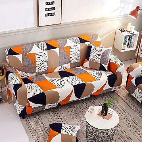 Funda de sofá elástica elástica con Estampado Floral, Toalla de sofá de algodón, Fundas de sofá Antideslizantes para Sala de Estar A1, 2 plazas
