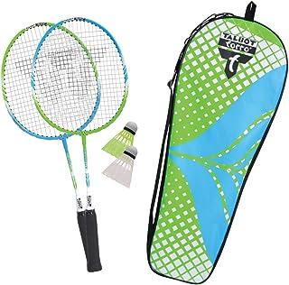 comprar comparacion Talbot Torro Set de Badminton 2 Attacker Junior para Niños, 2 Raquetas Más Cortas 53 cm, 2 Volantes, en un Valioso Bolso, ...