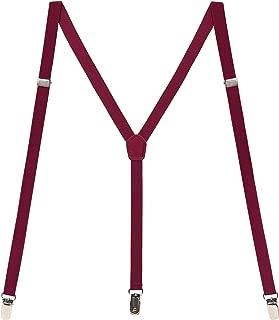 HDE Skinny Suspenders Y-Back Adjustable 1/2