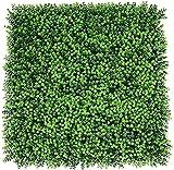 YZJL 50X50 cm esteras de Cobertura Artificiales Valla de follaje de Hiedra con protección UV Verde Pared telón de Fondo Valla de Hoja Verde Decoracion Jardin(Color:2)