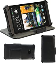 KHOMO @ Black PU Hot Press Leather Case with Stand for HTC One (M7)