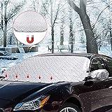 Windschutzscheibenabdeckung Magnetische Eisschutzfolien Frostabdeckung Winterabdeckung Frontscheibe Frostschutz Scheibenabdeckung Anti Frost 210x 120cm Amokee Frontscheibenabdeckung