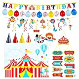 【Festive Celebration】Dress up your big top bash with these amazing carnival theme party decorations! With complete party pack, step right up to the greatest show on earth - your party. 【Welcome Carnival】Add a burst of color to your party with these v...