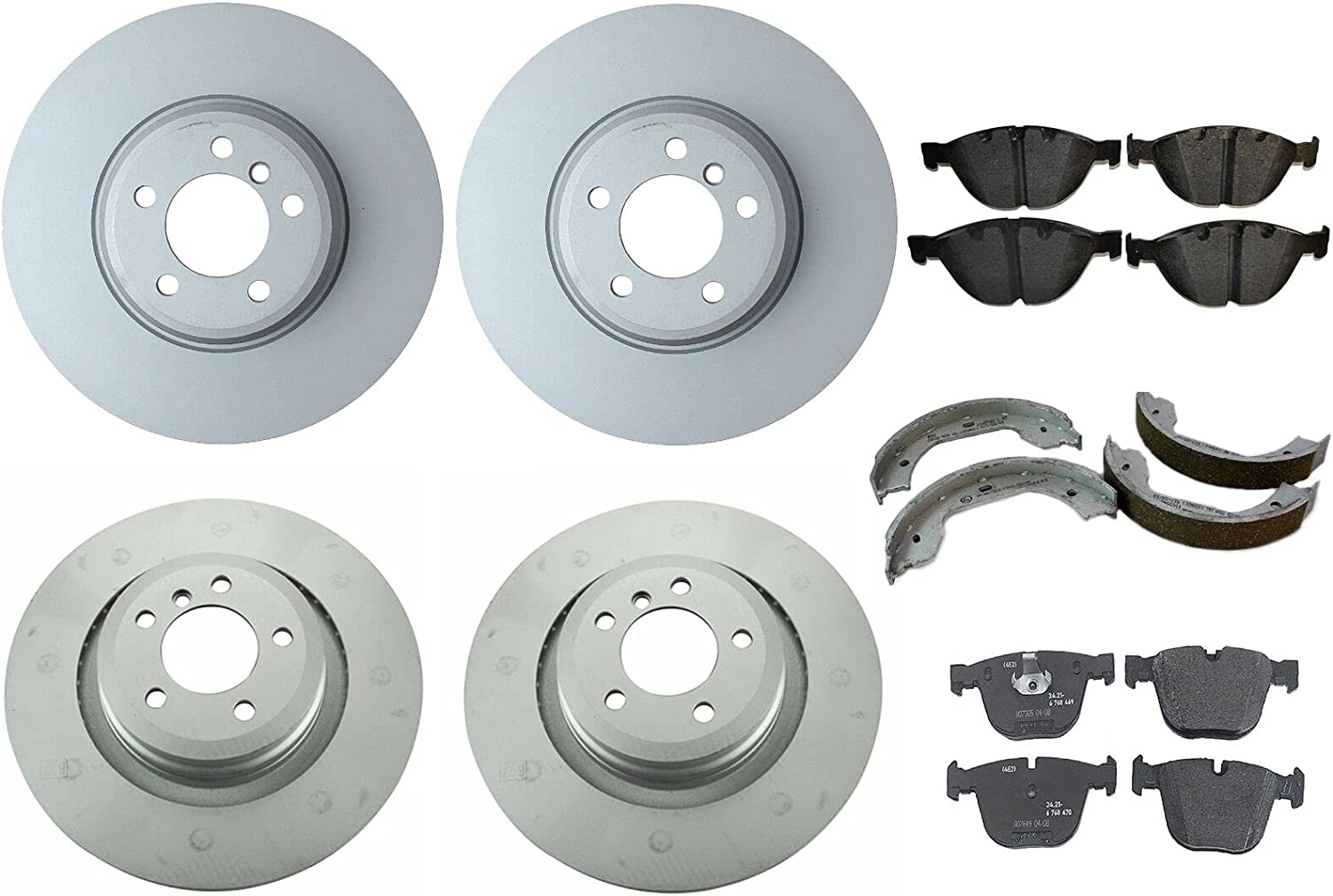 Front and Rear Brake Regular Luxury goods store kit Disc Compatible Pads Rotors Shoes wit