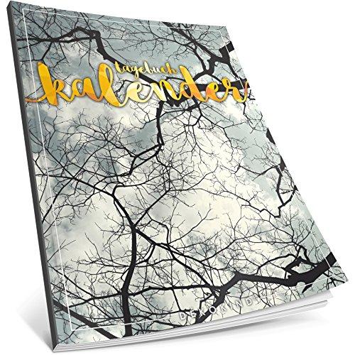 Dékokind® Tagebuch-Kalender: One Line A Day • Ca. A4-Format, Notizseiten & Zitate für jeden Monat • Buchkalender, Aufgabenplaner, Terminplaner • ArtNr. 22 Baumkrone • Vintage Softcover