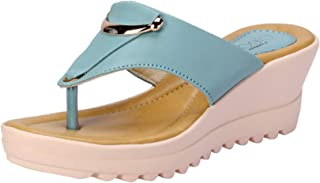 Cleo by Khadim's Women Navy Casual Heel Sandal
