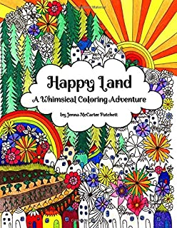 Happy Land: A Whimsical Coloring Adventure