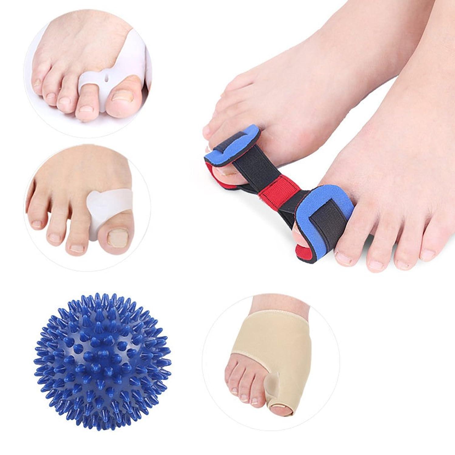 ステーキ許すアーティスト癒合矯正具、足の親指矯正Hallux外反夜、腱膜炎スプリント、足指セパレーター、腱膜リリーフプロテクタースリーブキット - 足関節の痛みの治療、スペーサ矯正補助手術