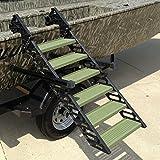 WaterDog Adventure Gear Dog Ladder for Hunting Boat - Oak Moss Green