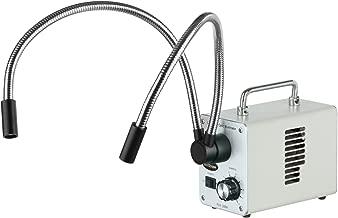 AmScope LED-30WY 30W LED Fiber Optic Dual Gooseneck Lights Microscope Illuminator