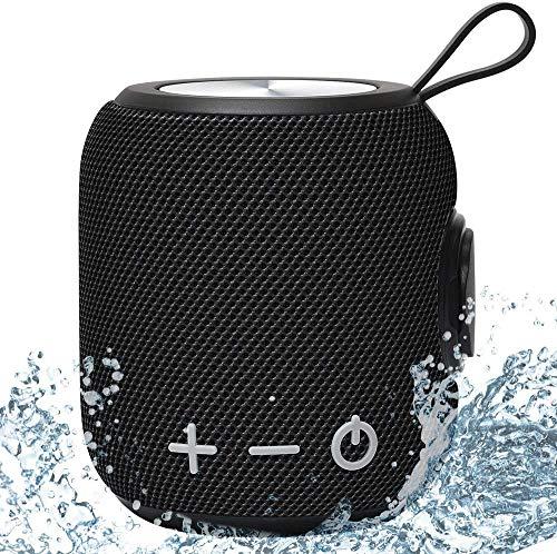 Tragbarer Wasserdichtes IPX7 Bluetooth Lautsprecher SANAG Bluetooth5.0 Speaker mit Deep Bass und Dualen Bass-Treibern,TWS Stereo Sound bloothooth Musikbox,12-Stunden Spielzeit (Schwarz)