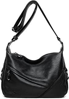 48a802d33873 Women s Retro Casual Hobo Shoulder Bags Soft PU Leather Crossbody Bags for  Women