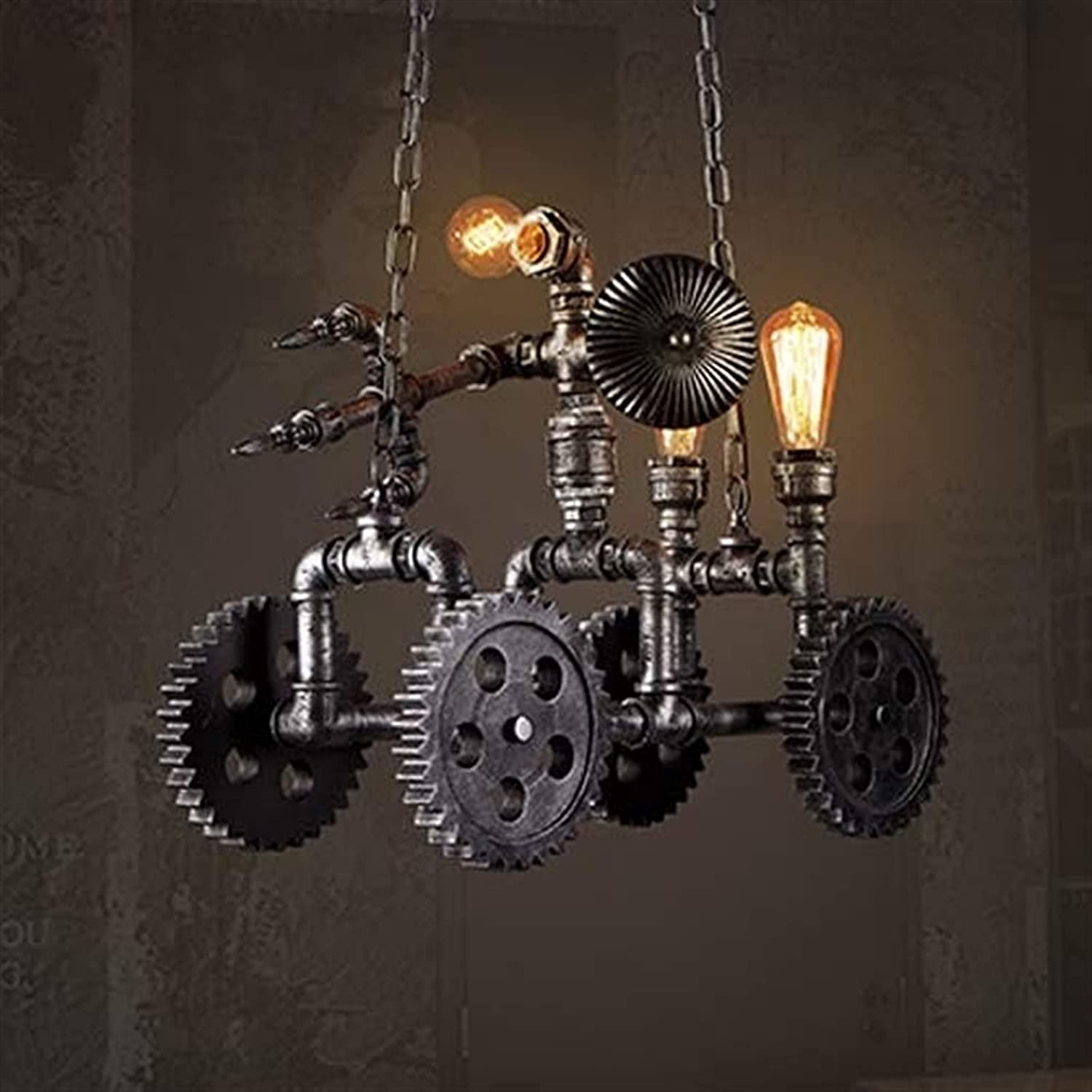 E27 All items in the store 4-Wheeleds Steampunk Industrial Chandelier Water Light Popular popular Pipe
