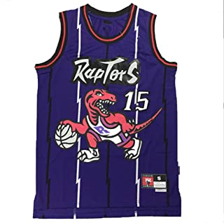 #15 Basketball Jersey Men's Vest Carter Classic Competition Vintage Training Suit Embroidered Sweatshirt Student Boy S-2XL
