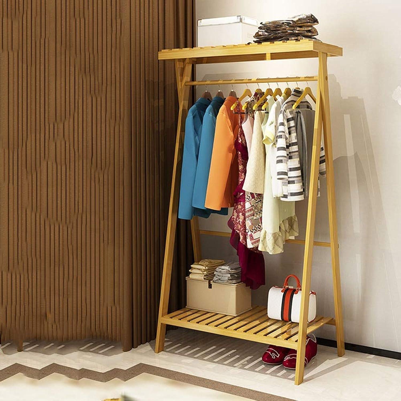 MEIDUO Coat Racks Solid Wood Coat Rack Clothes Rack Floor Hanger Space Saving for Living Room Hall (color   1 Tier, Size   80 cm)