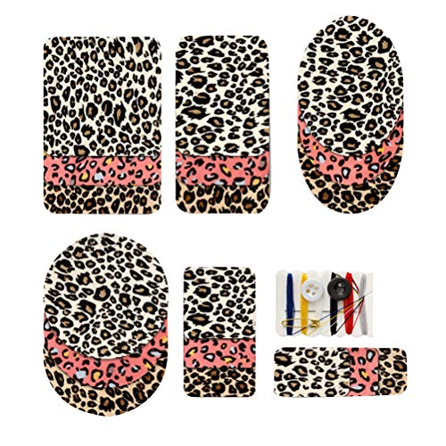 SUPVOX Iron On Patches Elbow Patch Leopard Spot Print Elbow Knee Repair DIY Patches for Clothes Jeans Fabric Sewing 18pcs