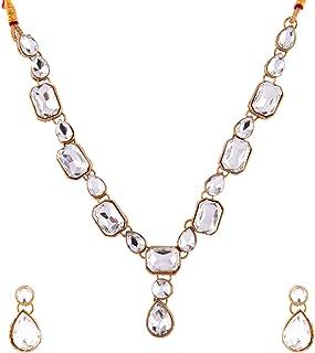 Efulgenz - Set di collane e orecchini a girocollo, stile bohémien, placcati in oro antico