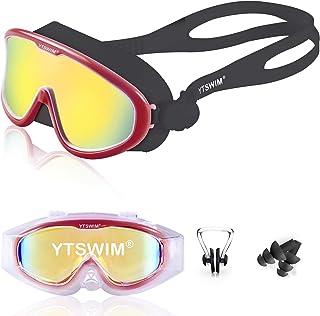 YTSWIM Wide View Swim Goggles with Soft Silicone Gasket,...
