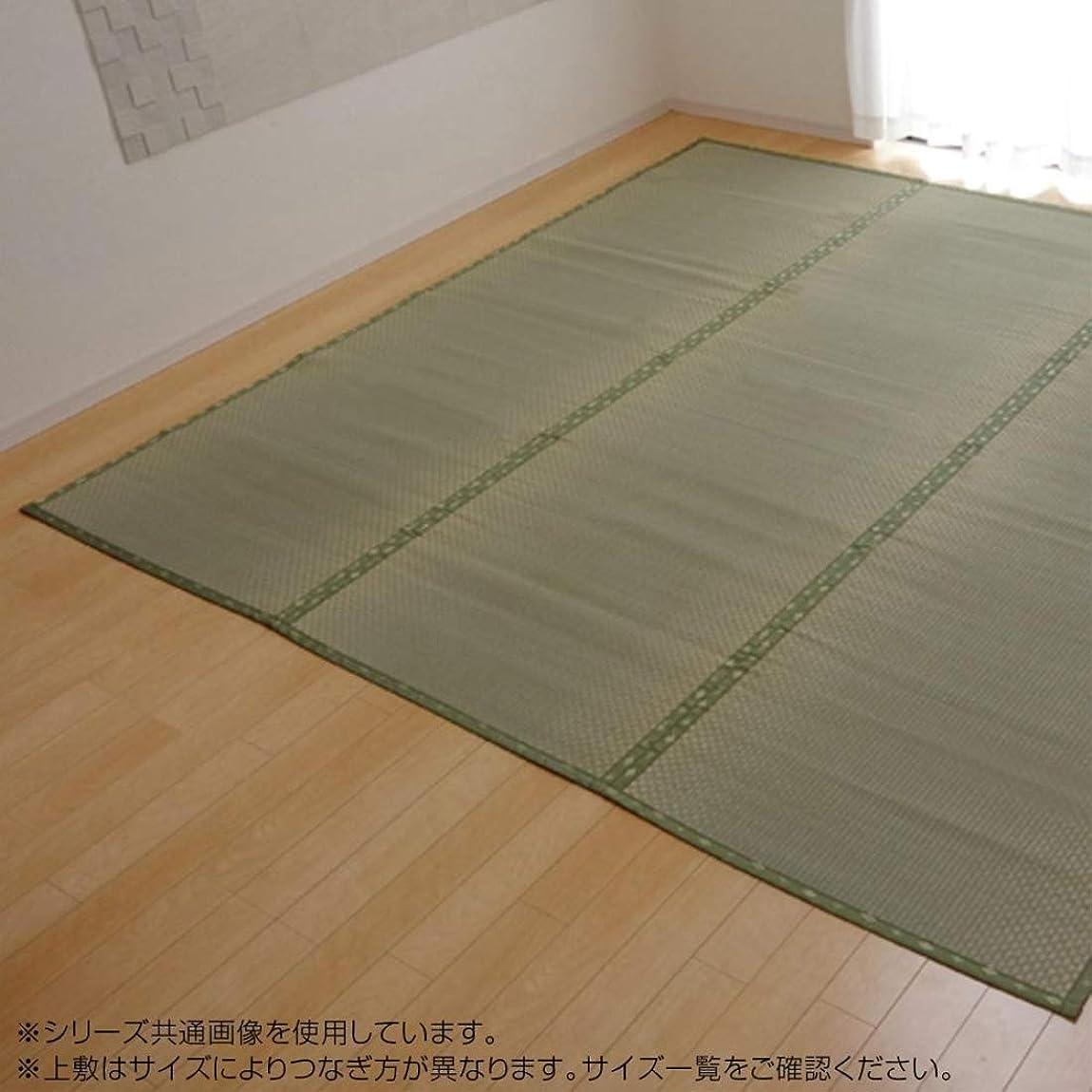モック回路チャーミングじゅうたん 角型 関連 純国産 い草 上敷き カーペット 市松織 フリーカット 江戸間6畳(約261×352cm)