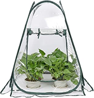 Qmsellz - Agricultural Greenhouses - Garden Greenhouse Portable Folding Mini Transparent Greenhouses Pvc Warm Room - Indoor Greenhouse Garden Dabber Plastic Garden Cup Cover Greenhouse Agricultural Mi