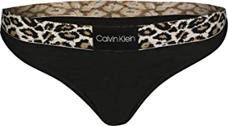 Calvin Klein Jeans Women's THONG Coordinate Panties, Black (Black 001), Large
