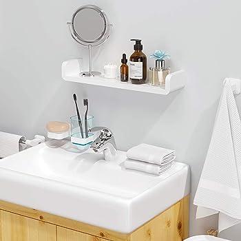 Aelfox 粘着式 浴室用ラック丨シャワーラック お風呂 バスラック タワー 壁 棚 洗面所ラック ホルダー 壁掛けラック 収納ラック 収納 水切り(L)